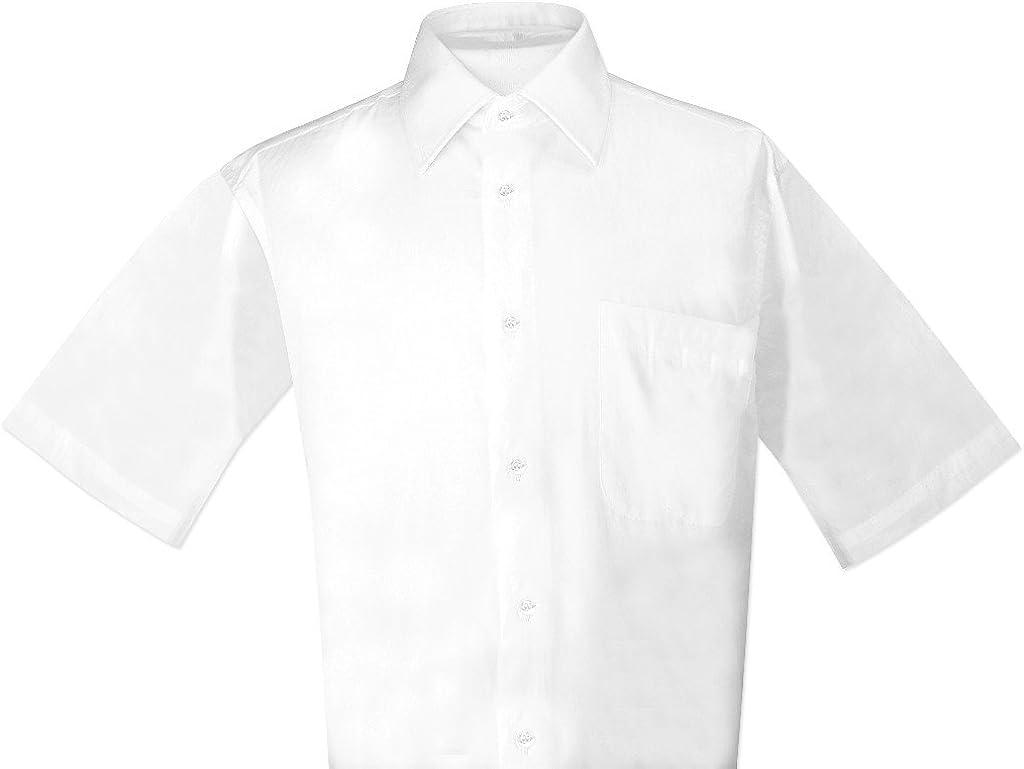 Biagio Mens 100/% COTTON Solid WHITE Color Dress Shirt sz 20 34//35