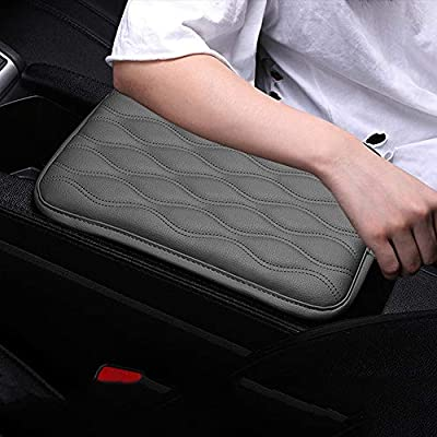 Forala Auto Center Console Pad,PU Leather Car Armrest Seat Box Cover Protector Protects from Dirt,Damage,Pet Scratches,Old Damaged Consoles (Gray): Automotive