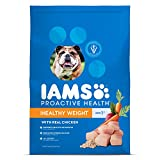 Iams Proactive Health Adult Healthy Weight Dry Dog Food Chicken, 29.1...