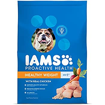 Iams ProActive Health Healthy Weight Dry Dog Food for All Dogs – Chicken, 38.5 Pound Bag