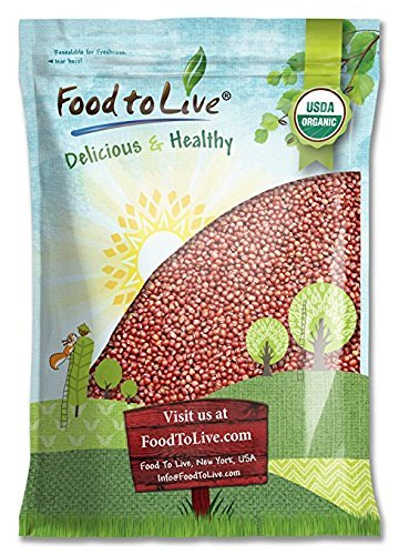 Organic Adzuki Beans by Food to Live (Kosher, Dried, Bulk) — 5 Pounds