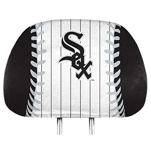 ProMark Chicago White Sox Printed Full Color 2-Pack Head Rest Covers Elastic Auto Baseball ()