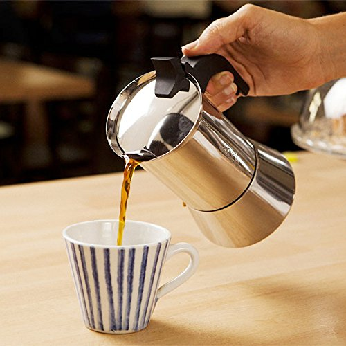 Bialetti 06969 venus Stovetop espresso coffee maker 6-Cup Stainless Steel by Bialetti (Image #2)