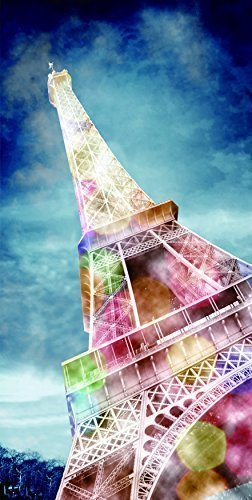 Cortesi Home We'll Always Have Paris Tempered Glass Wall Art, 24-Inch by 36-Inch