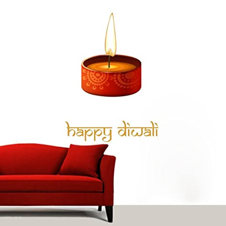 Buy Decor Villa Free Png Clip Art Image Happy Diwali Deepak Wall
