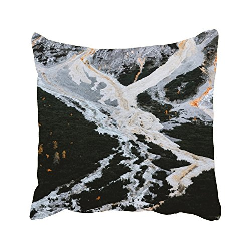 ArtsLifes Calamity Desktop Wallpaper Dolomites Decorative Throw Pillow Cover SquarePillowcase With Hidden Zipper Decor Cushion Gift For Home Sofa Bedroom Couch Car