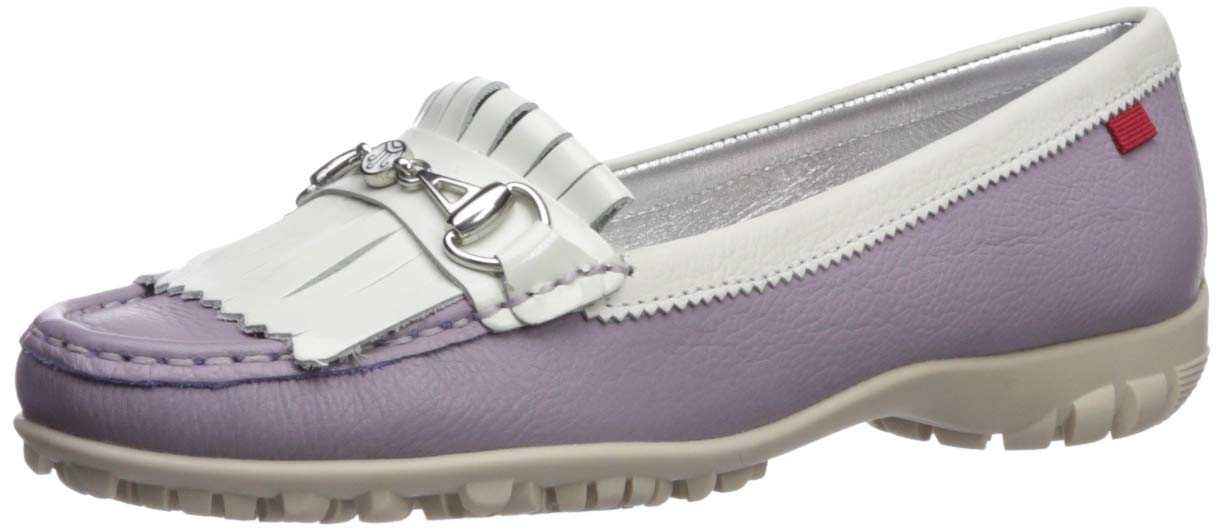 MARC JOSEPH NEW YORK Womens Leather Made in Brazil Lexington Golf Shoe, Lavender Grainy, 7 M US by MARC JOSEPH NEW YORK
