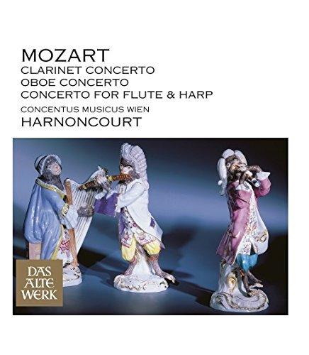 Mozart : Clarinet Concerto, Oboe Concerto & Concerto for Flute and Harp (DAW 50) by Nikolaus Harnoncourt (Oboe Harp)