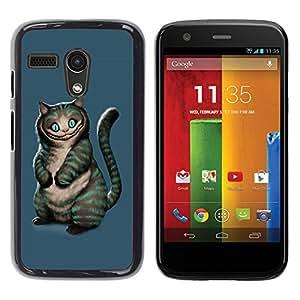 "For Motorola Moto G ( 1st Generation ) , S-type Gato Mal"" - Arte & diseño plástico duro Fundas Cover Cubre Hard Case Cover"