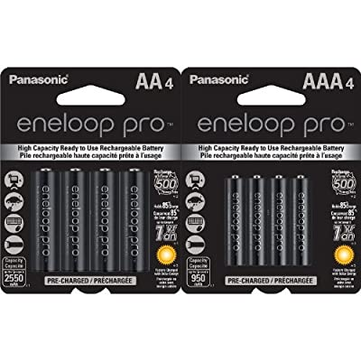 Panasonic eneloop pro AA High Capacity New Ni-MH Pre-Charged Rechargeable Batteries