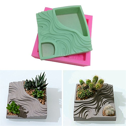 Amazon.com: Sundlight Succulent Plant Flower Pot Silicone Mold Gypsum Cement Fleshy Flower Bonsai DIY Ashtray Candle Holder Mould for Home Decor(Mold Color ...