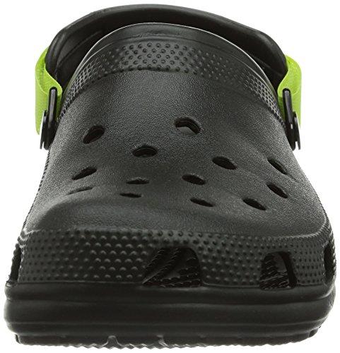 Clog Adulte volt Strap Crocs Green Turbo Noir Sabots Classic Mixte black q4xtnf