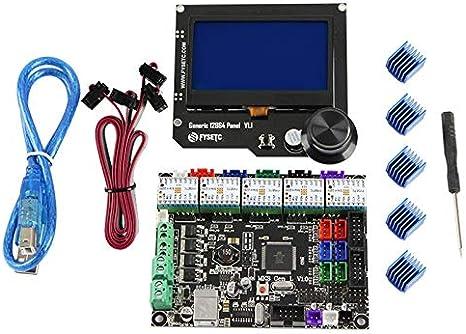 TOOGOO Equipo de Placa Base de Impresora 3D Mks Gen L + ...