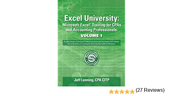 Excel University: Microsoft Excel Training for CPAs and Accounting ...