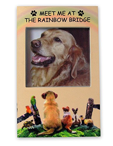 BANBERRY DESIGNS Rainbow Bridge Memorial Frame - Pet Remembrance Picture Frame with Rainbow Bridge Saying - Loss of a Dog - Loss of a ()
