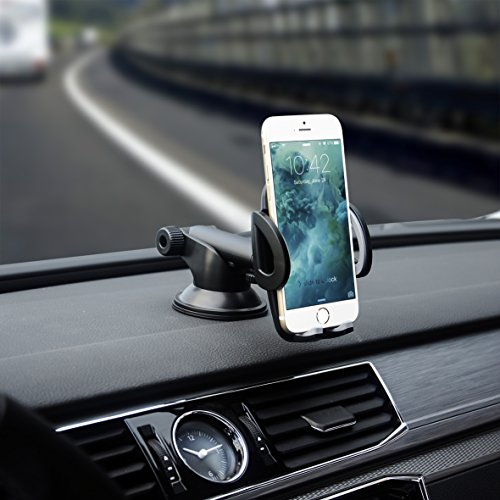 ANSWER Y&M Strong Stick Car Mount Easy One Touch Car Phone Holder with Long Arm for iPhone X/8 Plus/7/6s Plus/6s