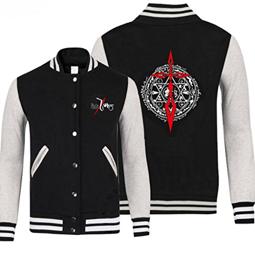 Poetic Walk Anime Fate Stay Night Cosplay Costume BaseBall Sports Jacket (Small, Black)