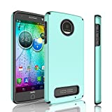 Moto Z Play Case, Moto Z Play Droid Case, Tinysaturn [YHalf Series] [Mint] Hybrid Slim Dual Plastic Shell Rubber Shock-Proof Armor Defender [Drop Protection] Case Cover For Motorola Moto Z Play Review