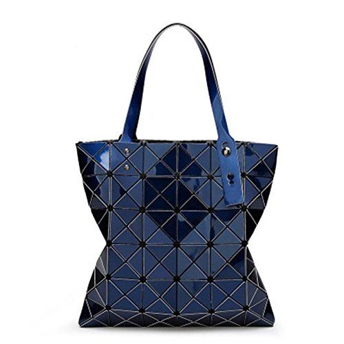 mujeres Khaki Handbags Bag Láser Top Top Diamante Designer Handbags A plegables Fake de Bolsos acolchadas 5X32 Bolsos Femeninos Bag handle 32 blue las Geometría Cuadros Verano 5cm Handle UStO0q