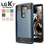 LG-Tribute-5-Case-LG-K7-Case-GreenElec-Slim-Fit-Shock-Proof-Impact-Resistant-Brushed-Metal-Texture-Hybrid-Dual-Layer-Protector-Case-Cover-for-LG-K7-Case-LG-Tribute-5