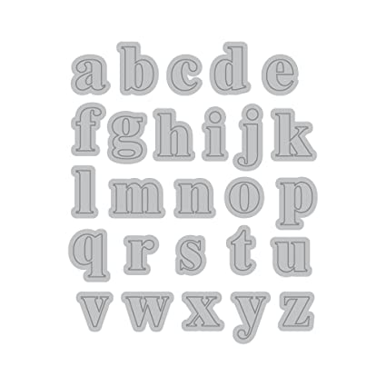 Amazon Com Recollections Cutting Template Lower Case Mini Alphabet