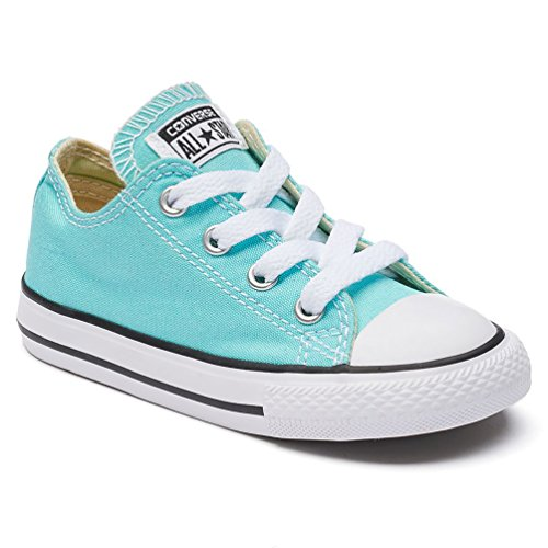 CONVERSE TODDLER ALL STAR LOW INF LIGHT AQUA SIZE 9](Toddler Converse Shoes Size 9)