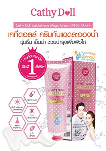138 Ml.cathy Doll Whitening Sunscreen Cream L-glutathione Magic Cream Spf50