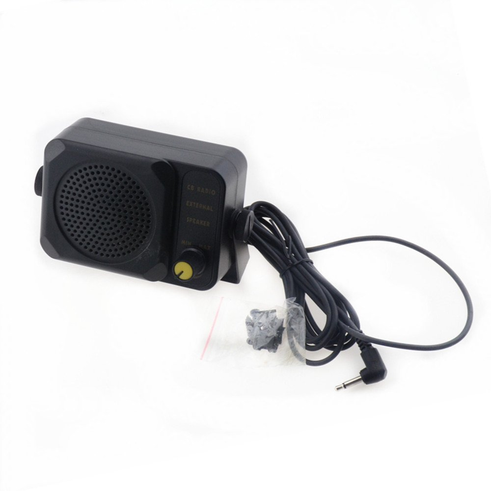 TOPMYS TM-ES602 CB Radio Speaker for CB Radio With 1.85m cable 3.5mm Mono Plug External Speaker with Adjustable Volume Perfect for Motorola/Kenwood/Yaesu/Midland/Icom/HYT/Mobile Transceiver, CB Radio