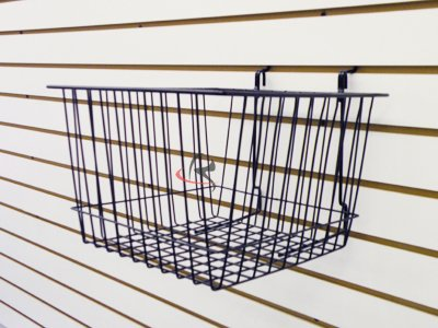 RK-BSK15B Slatwall Accessories basket /6 units (Unit Slatwall)
