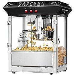 Superior Popcorn Company 4635 Hot and Fresh Countertop Style Popper Machine, 8 oz, Black