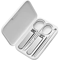 Bhuuno for Xiaomi mijia Nail Clippers Set, Fingernail Toenail Clippers Sharp Nail Cutter, Stainless Steel