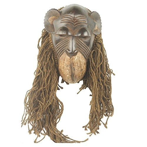 I' African Wood And Jute Mask ()
