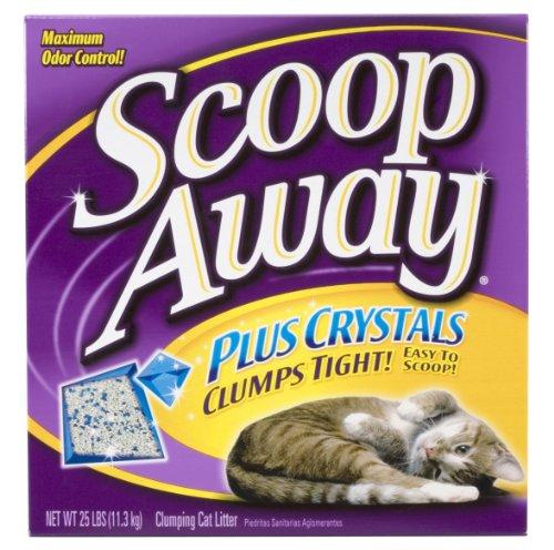 Scoop Away Cat Litter Plus Crystals, 25-Pound Box, My Pet Supplies