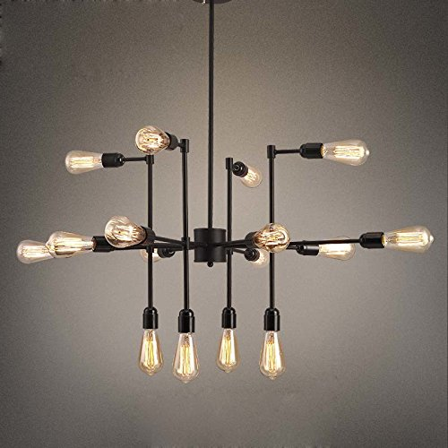 16 Inch Dome Pendant (Industrial Vintage Metal Large Chandelier with 16 Lights - LITFAD 16