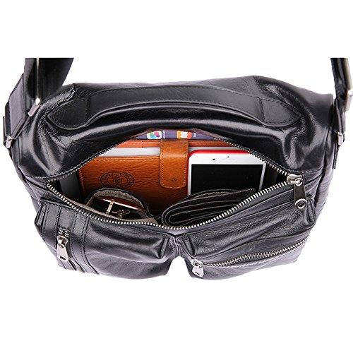 Genda 2Archer Borsa in Vera Pelle Sacchetto di Spalla di Affari Sacchetto Messaggero (29 cm* 10cm * 24 cm)
