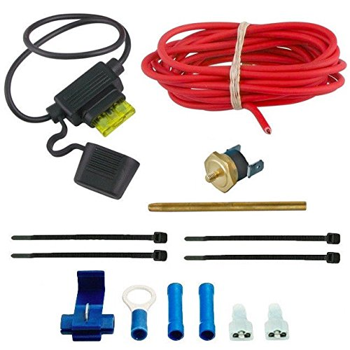 American Volt Single Stage 180f On 165f Off Fan Thermostat Wiring Push-in Radiator Fin Probe