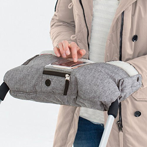 Skip Hop Stroll-and-Go Three-Season Hand Muff, One Size, Heather Grey by Skip Hop (Image #3)