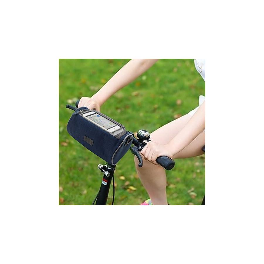 Pard New Fashion Small Bicycle Handlebar Bag, Multifunctional Oxford Cloth Waterproof Bucket Bag