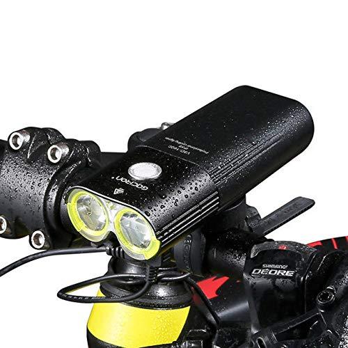 Anddoa GACIRON 1600 LM バイク フロントヘッドライト サイクリング 自転車 充電式懐中電灯 IPX6 防水 5000mAh パワーバンク バイクアクセサリー   B07PDJNK1W