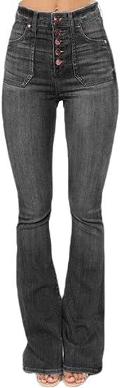 maweisong レディースファッション ハイウエスト ワイド レッグ ブーツカット デニム フレア ジーンズ パンツ