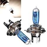 2PCS H4 55W Super White Headlight Xenon Halogen Globes Car Light Lamp Blue Bulb