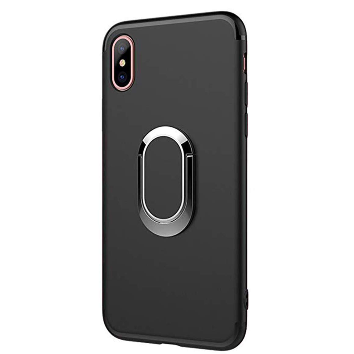 Red Seabaras iPhone XR Case,Magnetic Car Mount with Kickstand Ring Stand Holder for iPhone XR 4351531066