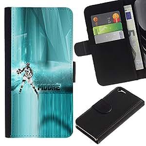 MobileX / Apple Iphone 6 4.7 / M Moore - Basketball / Cuero PU Delgado caso Billetera cubierta Shell Armor Funda Case Cover Wallet Credit Card