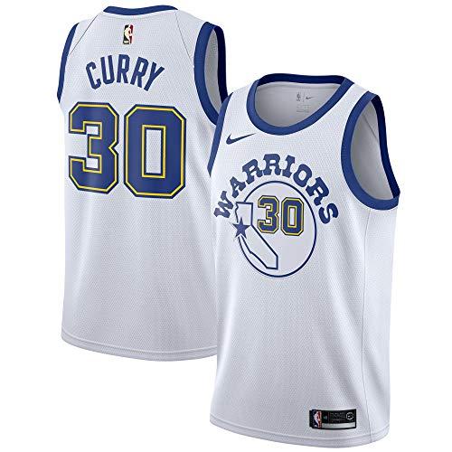 (Nike Stephen Curry Golden State Warriors Swingman Hardwood Classics White Jersey - Men's 2XL (XX-Large))