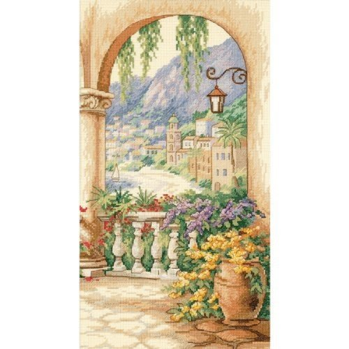 Dimensions(R) 9 Inch x16 Inch Counted Cross Stitch - Terrace Arch - Terrace Arch