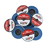"ABN 3"" T27 40 Grit High Density Zirconia Alumina Flat Flap Disc Roloc Roll Lock Grinding Sanding Sandpaper Wheels 10 PK"