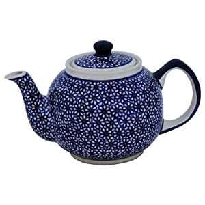 Original Boleslawiec Retro-Design Teapot 1.0 l in the Decor 120