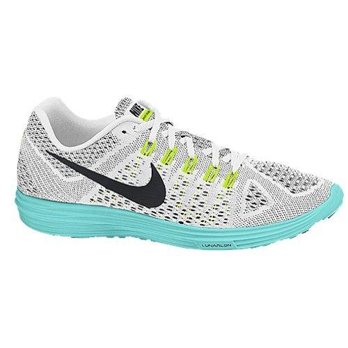 Nike Women's Lunar Trainer Running Shoe (White, Light Aqua) Sz. 10