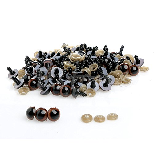Stebcece 100pcs 10-18mm Plastic Safety Eyes For Teddy Bea...