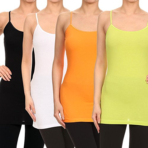 RouA 205S-7 Basic Long Tank Top B,W,Or,Lm (L)